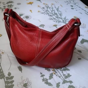 RED fossil handbag
